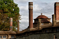 Moravian Tile Works Smoke Stacks and tile roof